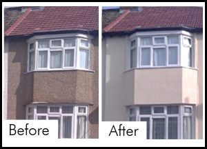 External wall insulation before and after photos